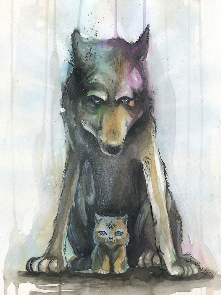 Wolf  Kitten by phresha  Redbubble