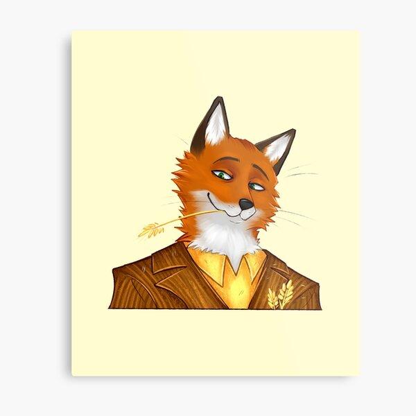 wandbilder fantastic mr fox redbubble