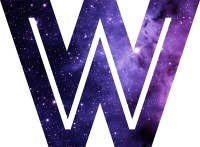"""The Letter W - Space"" Stickers by Mike Gallard 