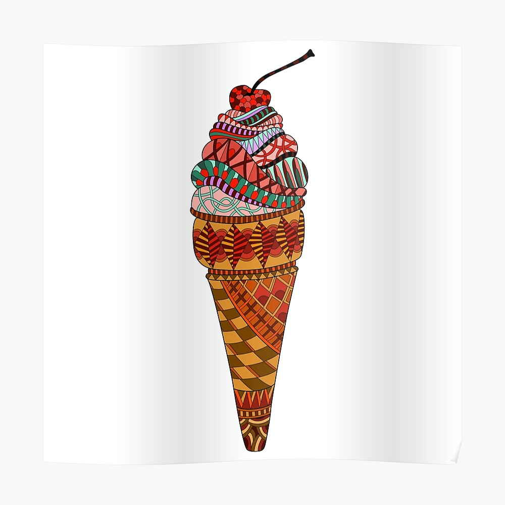 ice cream drawing poster by lidiap redbubble