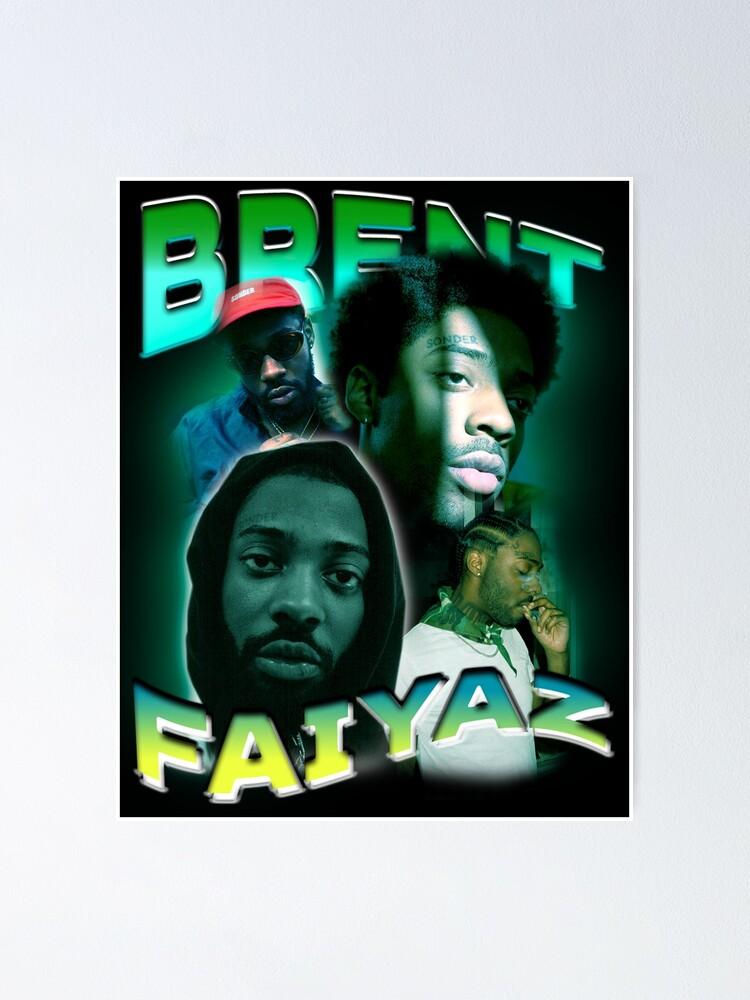 brent faiyaz bootleg shirt poster von lvnfaith redbubble