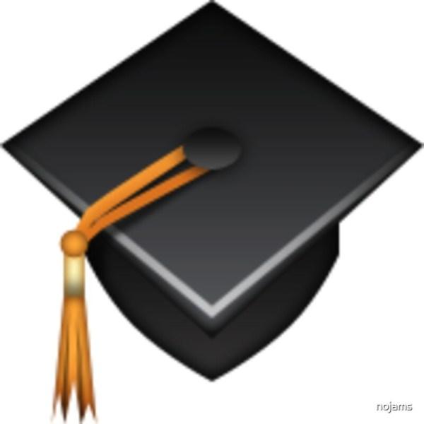 """graduation Cap Emoji"" Art Prints Nojams Redbubble"