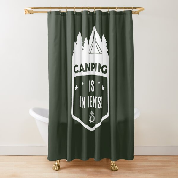 camping lovers shower curtains redbubble