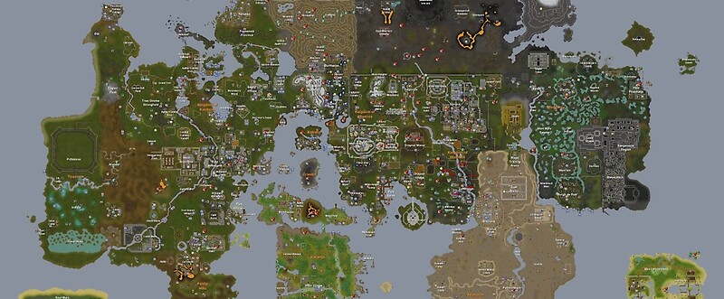 Runescape 2015 World Map Mugs by MLGDoge420  Redbubble
