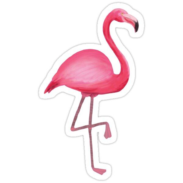 Flamingo Stickers By Elizabeth Sharp Redbubble