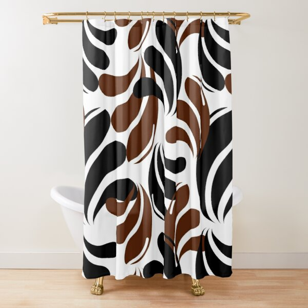 mid brown shower curtains redbubble
