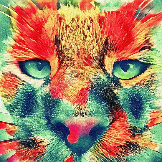 Artificial neural style wild cat