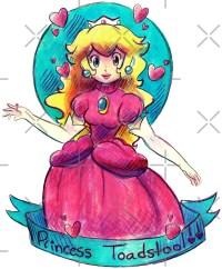 """""""Princess Toadstool"""" Stickers by SaradaBoru"""