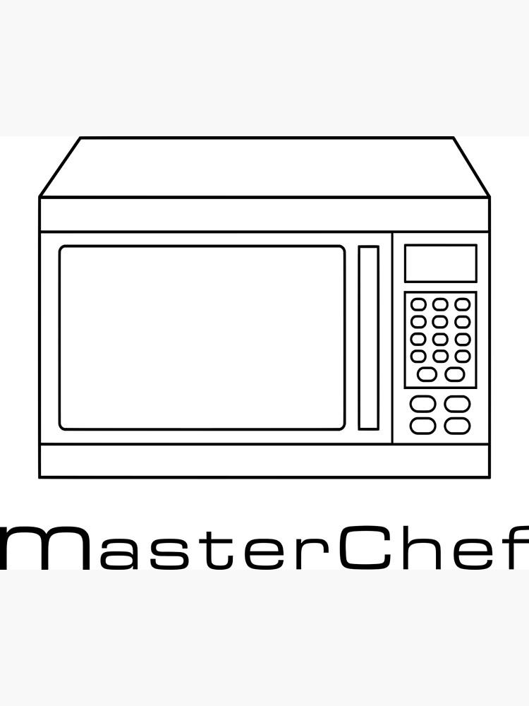 microwave masterchef v1 postcard by joeladamo redbubble