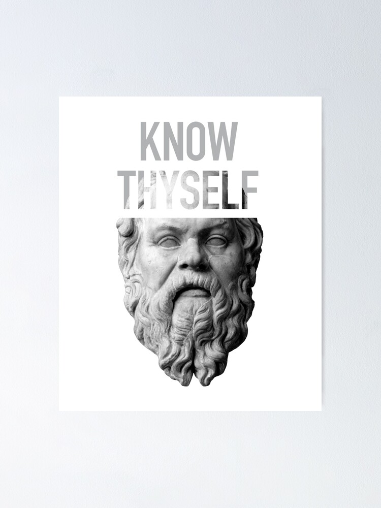 Socrate Connais Toi Toi Même : socrate, connais, même, Poster, Socrate, Connais-toi, Toi-même, The-Nerd-Shirt, Redbubble