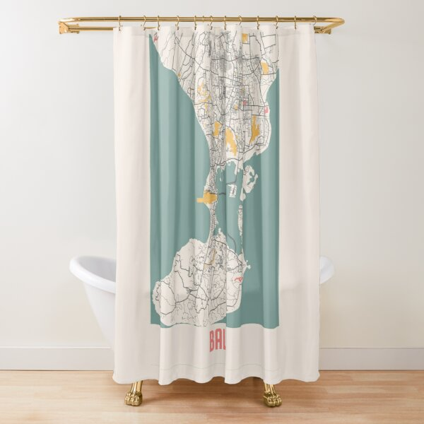 city map shower curtains redbubble