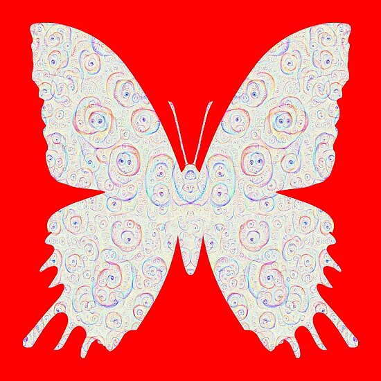 #DeepDream White Butterfly