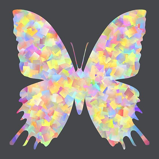 Pastel Motley Butterfly