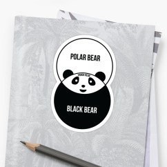 Black Bear Diagram 2003 Ford Windstar Wiring Panda Venn Stickers By Offensivefun Redbubble