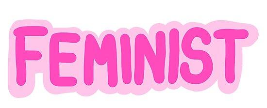 feminist logo photographic print