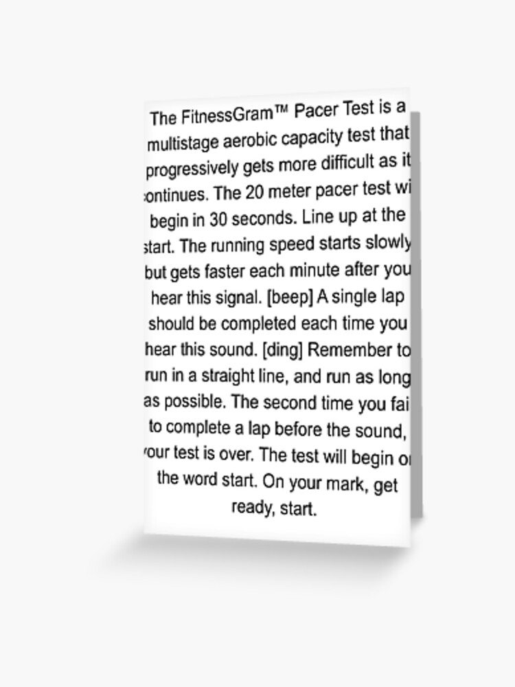 The FitnessGram Pacer Test | Know Your Meme