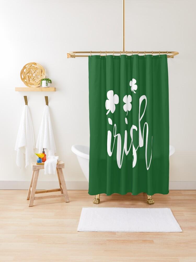 irish st patricks day funny lucky irish man shower curtain by saiikoqueen redbubble