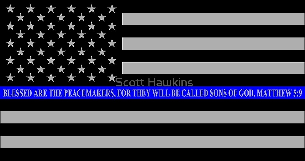 American Dad Wallpaper Iphone Quot The Thin Blue Line Blessed Are The Peacemakers Quot By Scott