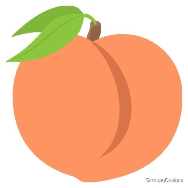 """peach Emoji"" Art Prints Scrappydesign Redbubble"