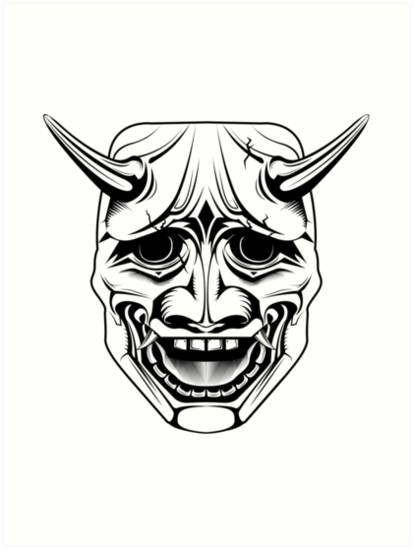 Japanese Oni Demon Mask