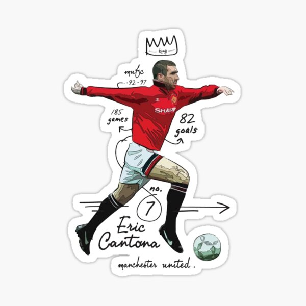 """They wanted me to be an example."""". Cantona Stickers Redbubble"""