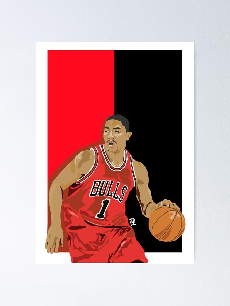 mvp derrick rose poster von kayemessart redbubble