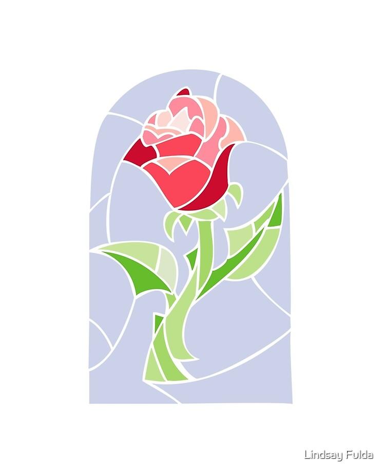 Dessin Rose La Belle Et La Bete : dessin, belle, Coque, Adhésive, Stain, Glass, Belle, Bête, CreatingRayne, Redbubble