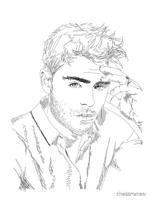zac efron simple lines redbubble