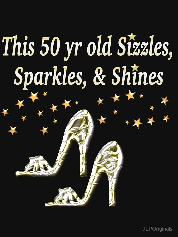sparkling 50th birthday shoe