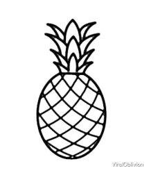 Simple pineapple outline by ViralOblivion Redbubble