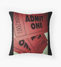 ticket stub throw pillows