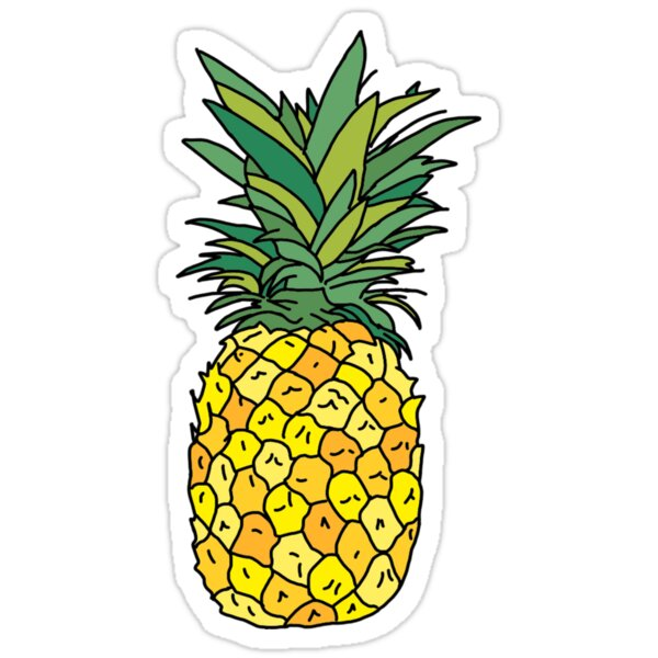 Cute Pineapple Fruit Stickers By Andilynnf Redbubble