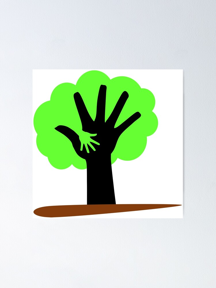 Save Trees Save Earth Poster By Ruddrataksh Redbubble