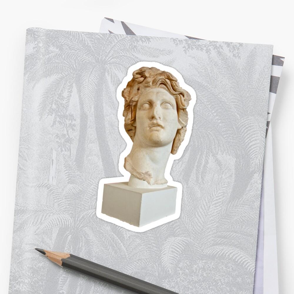 Vaporwave Statue Floral 420 Sticker by nostunts  Redbubble
