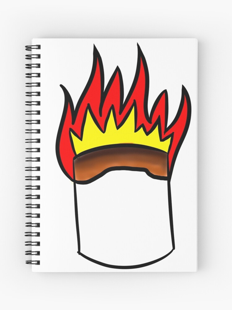flaming marshmallow spiral notebook