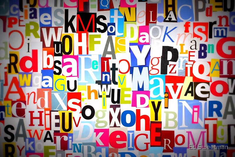 Magazine Letter Jumble Posters by Ed Sweetman  Redbubble