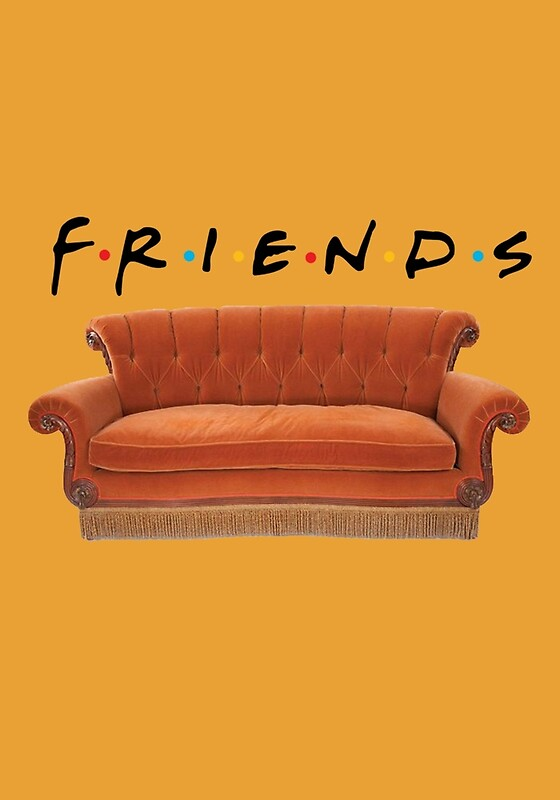 "Friends Couch"" Art Prints By Exactablerita Redbubble"