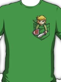 Pocket Link Legend of Zelda T-shirt. Pocket Link T-shirt designed be Purrdemonium, works on all colors!