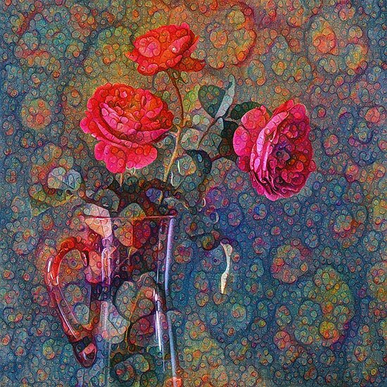 Roses #DeepDreamed