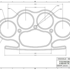 Brass Knuckles Diagram 2003 Ford Taurus Wiring Awesome Detail Knuckle Duster Plain Schematic Posters By Aromis Redbubble