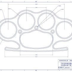 Brass Knuckles Diagram Tekonsha P2 Wiring Knuckle Duster Blue Schematic By Aromis Redbubble