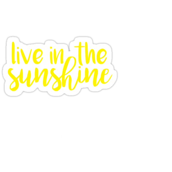 live in the sunshine Stickers by sarahvillella  Redbubble