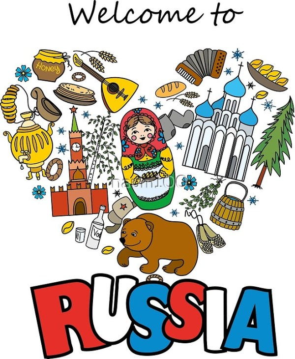 quotWelcome to Russia Russian symbols travel Russia