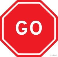 """Go - stop sign design"" by Arron Board | Redbubble"