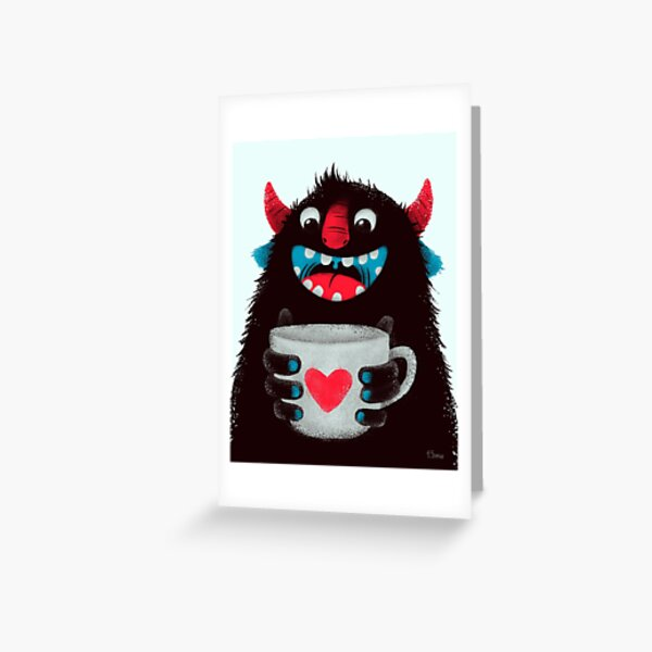 Download Coffee Cup Greeting Cards | Redbubble