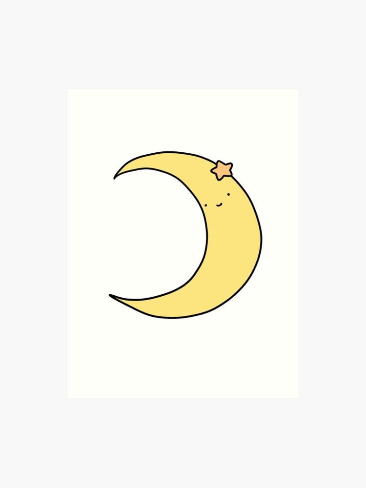 cute crescent moon art