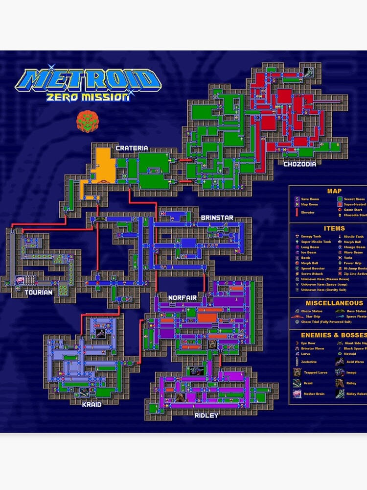 Map Of Underbelly : underbelly, Metroid, Mission, Kraid, Location, Catalog, Online