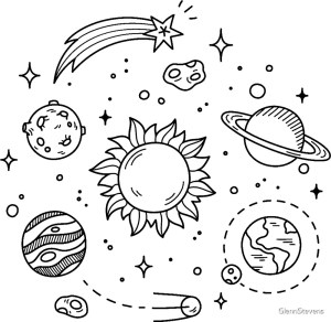 space drawing galaxy doodle drawings cool designs backgrounds coloring redbubble planets clipart sticker getdrawings sketch artist template