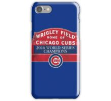 Cubs 2016 World Series Champions iPhone Case/Skin