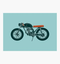 honda cb125 cafe racer photographic print by motomood redbubble [ 1000 x 1000 Pixel ]